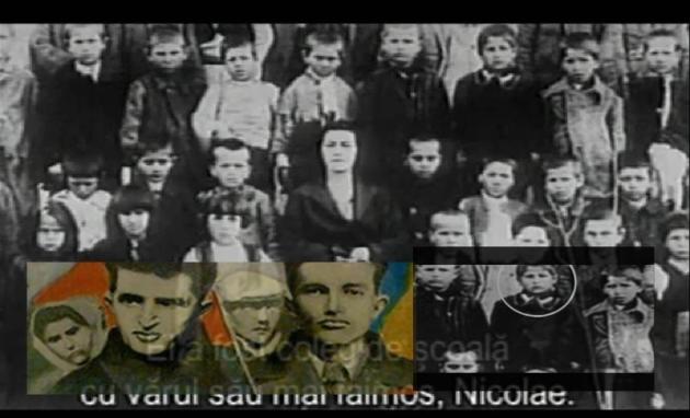 Nicolae Ceausescu elev la 8 ani