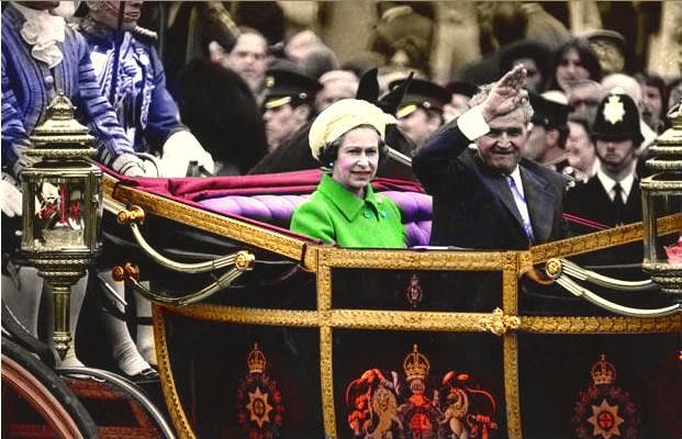 Regina Elisabeta a II-a Nicolae Ceauşescu