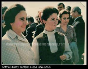 Elena Ceausescu impreuna cu actrita Shirley Temple