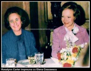 Elena Ceausescu impreuna cu Rosalynn Carter