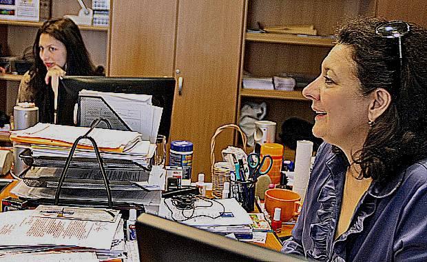 Lelica Crisan cu fica ei Bianca Jurca consiliera mamei